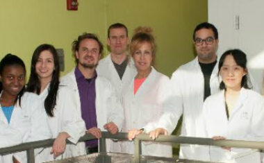 Mike Sapieha and his lab colleagues