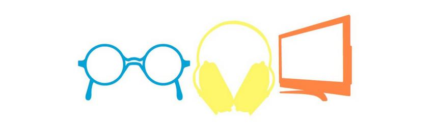 Glasses, Headphones, TV Graphic