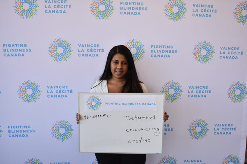 Ramya holding whiteboard #SeeMeAs