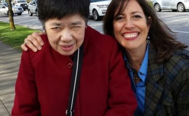 Jean Ip with Director of Philanthropy, Ann Morrison