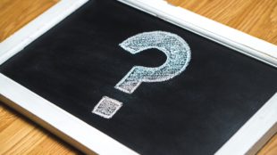 chalk board with question mark