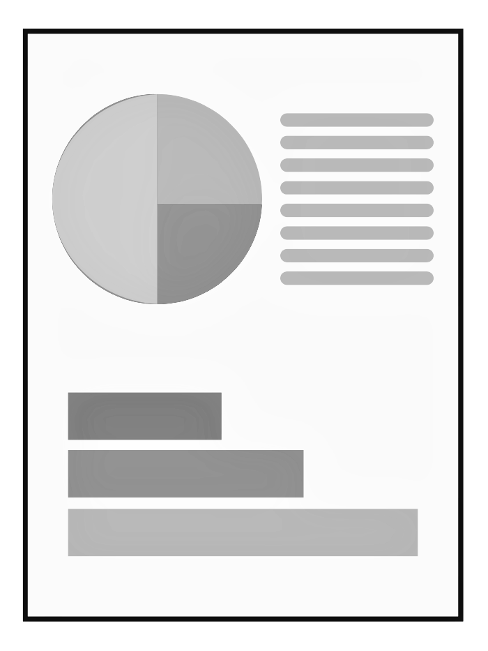 graphic of a report