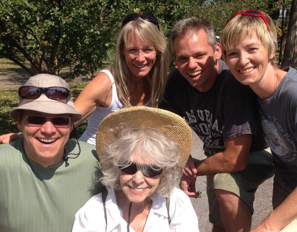 Lorraine with family