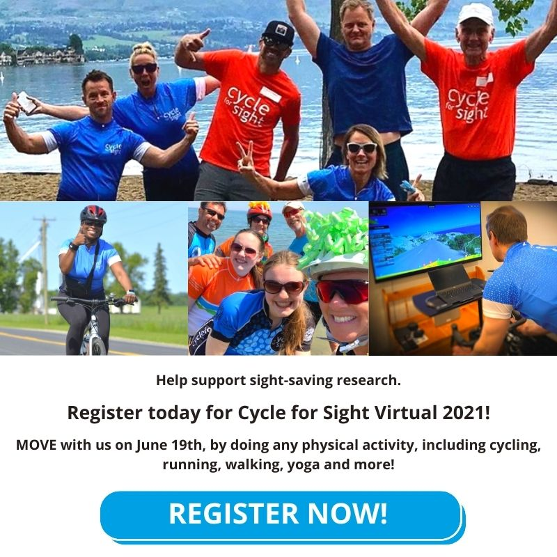 People participating in 2020 Cycle for Sight virtual - Register Now!