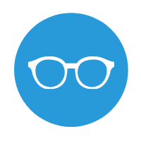 graphic of an eye glasses